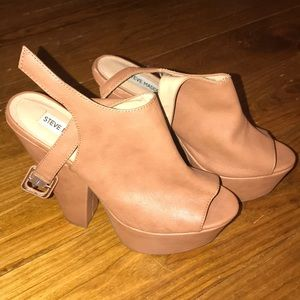 Steve Madden, Gabby Heels, cognac color, size 8.5.